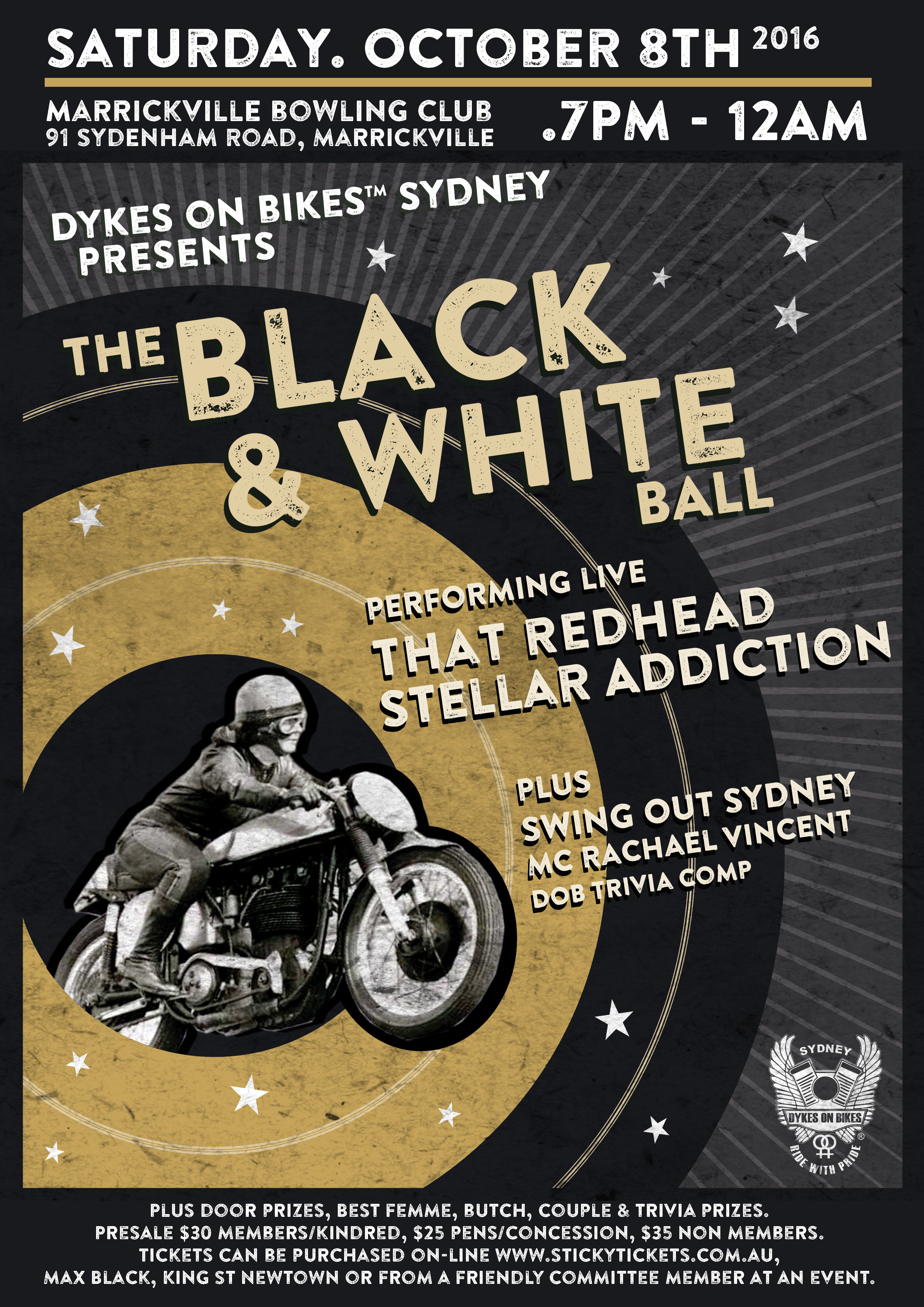 Black and White Ball 2016 – coming 8 October!